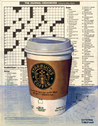 Coffee & Crossword by Catherine Christiano
