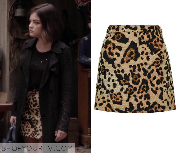 Pretty Little Liars: Season 6 Episode 6 Aria's Animal Print Skirt ...