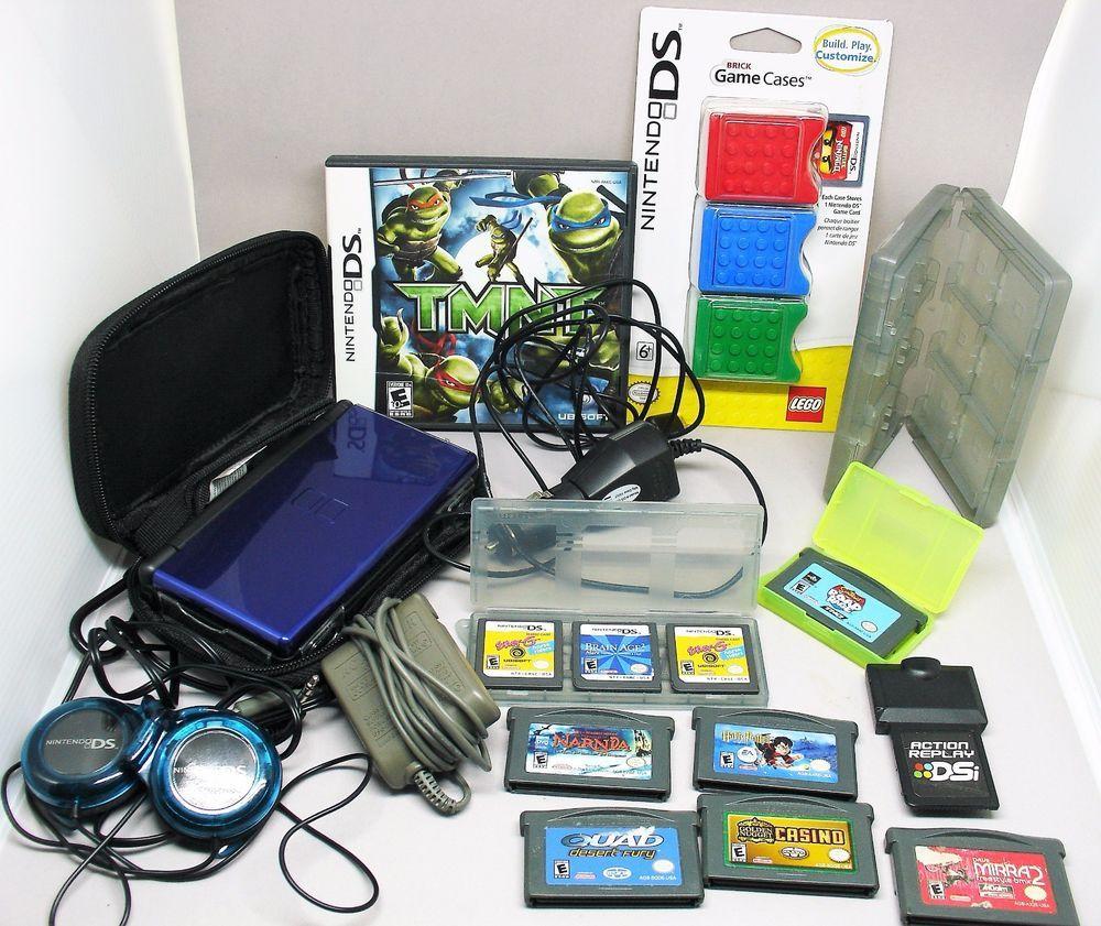 Nintendo DS Lite Game Boy Advance LOT Nintendogs Action