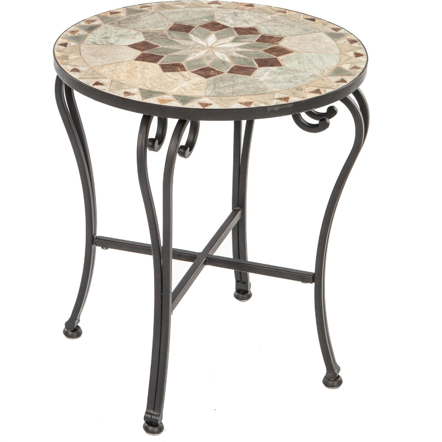 Alfresco Home Notre Dame Mosaic Side Table Patio Side Table