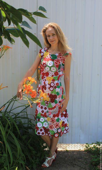 e49a22958e1 Платья ручной работы. Ярмарка Мастеров - ручная работа. Купить платье из  ярких цветов.