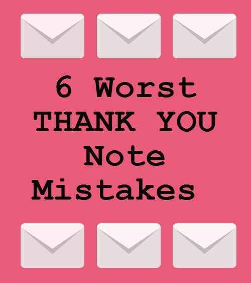 Infographic  Infographic   Thank You Note Mistakes Infographic