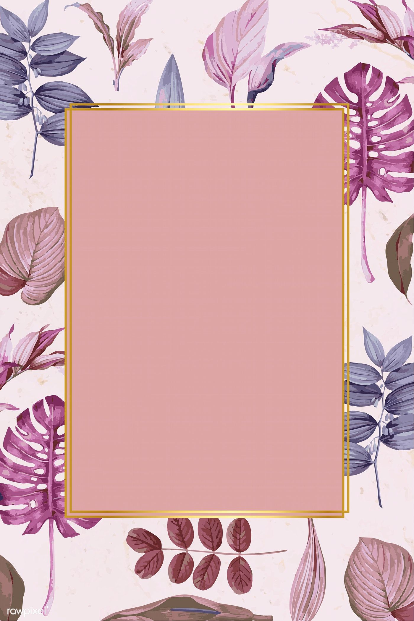 Download premium vector of Rectangle frame on a tropical ...