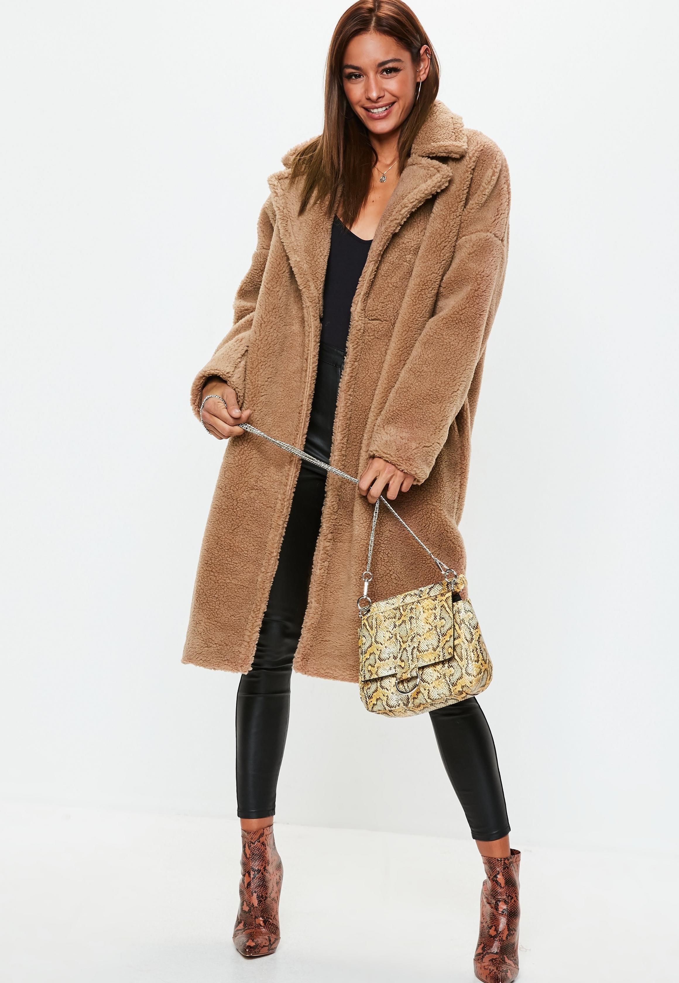 d482bc19d6b2 Camel Chunky Borg Teddy Coat in 2019 | Boston | Teddy coat, Coat ...
