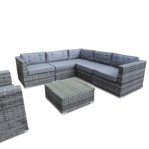 Outstanding Bermuda Outdoor Grey Rattan Corner Sofa Set Grey Rattan Machost Co Dining Chair Design Ideas Machostcouk