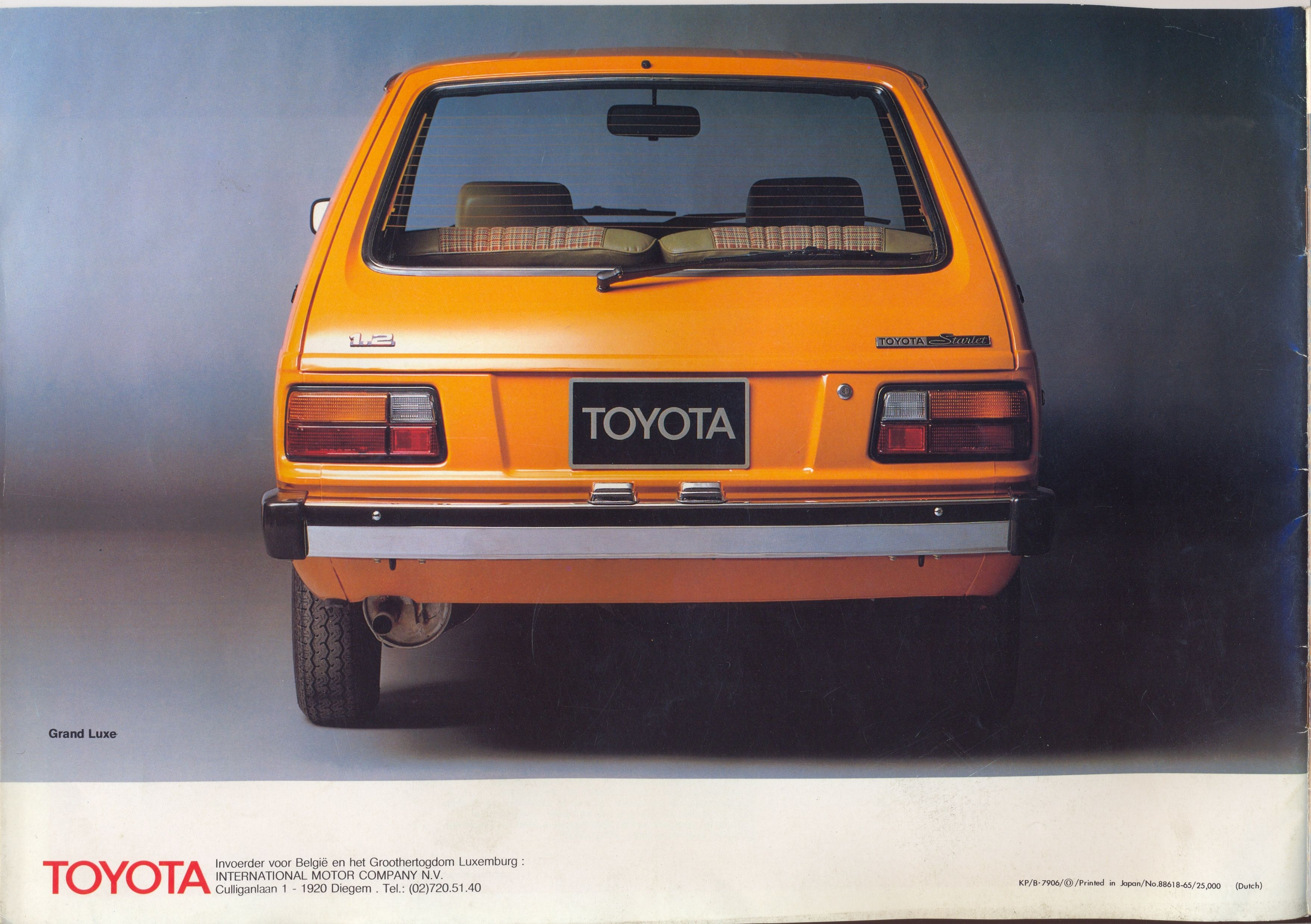 Toyota starlet kp60 belguim ad