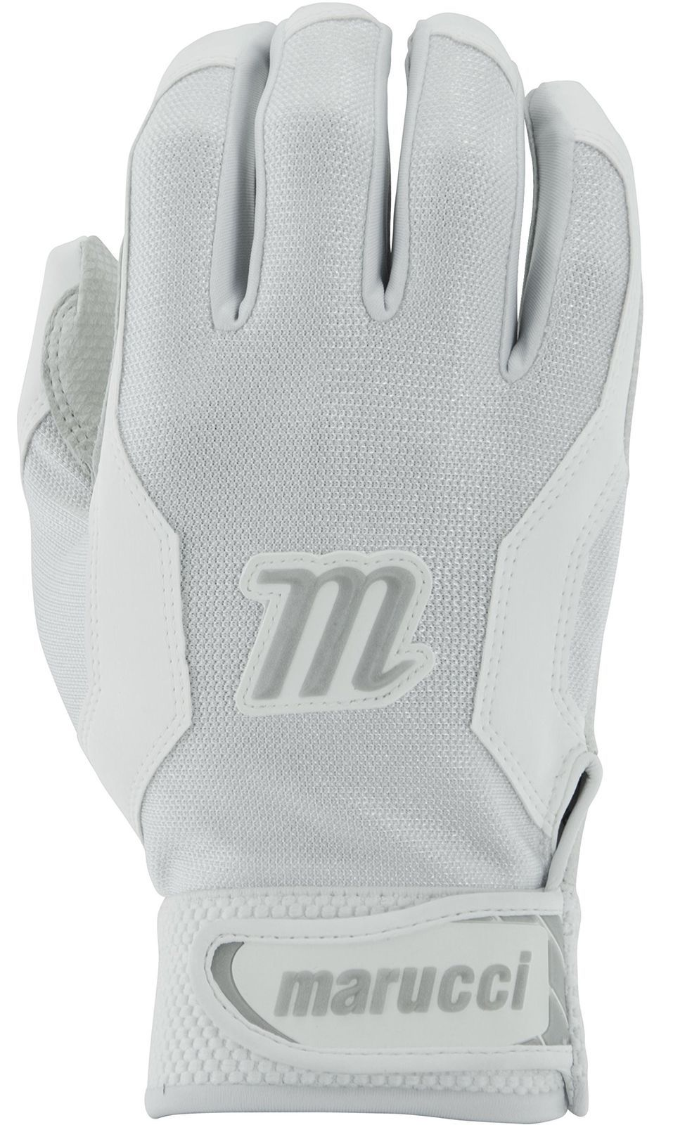 Marucci Adult Quest Baseball Batting Gloves, White, X