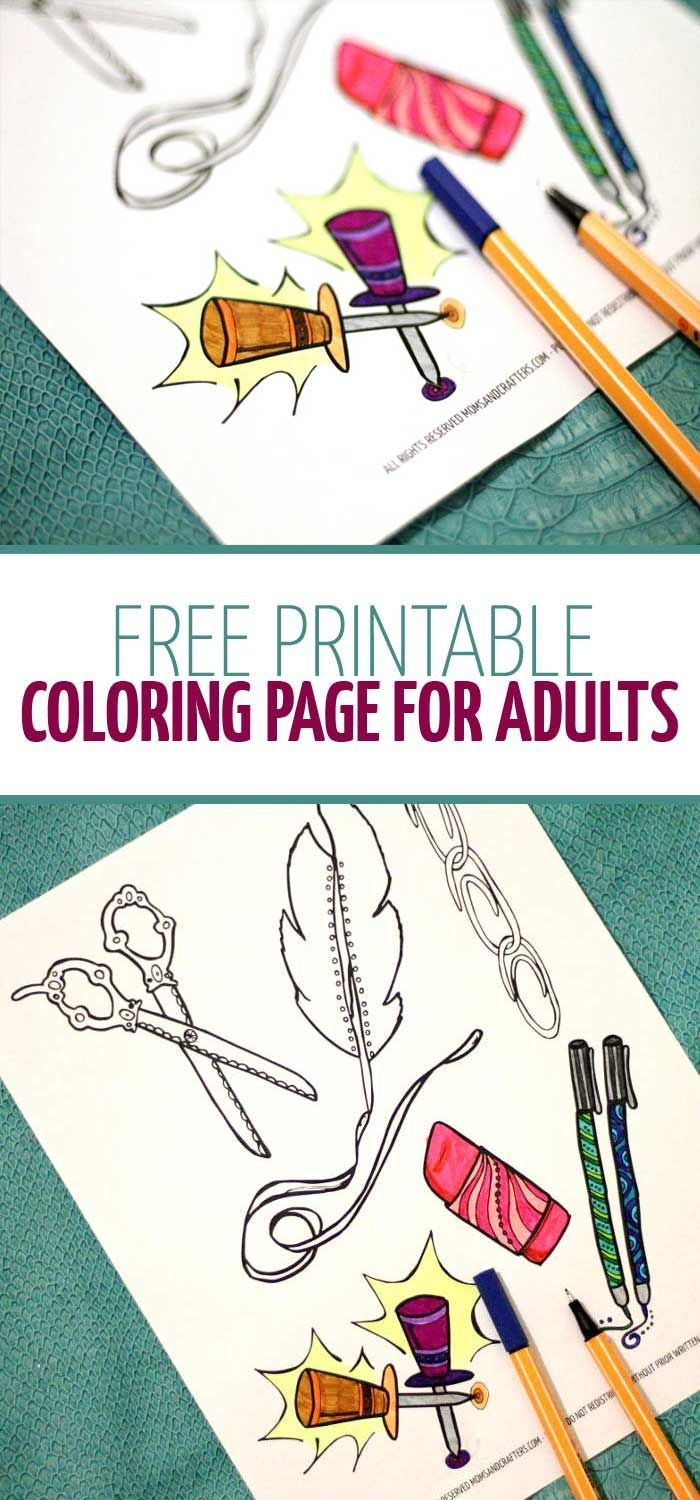 Free printable coloring page for adults   Arts and crafty ...