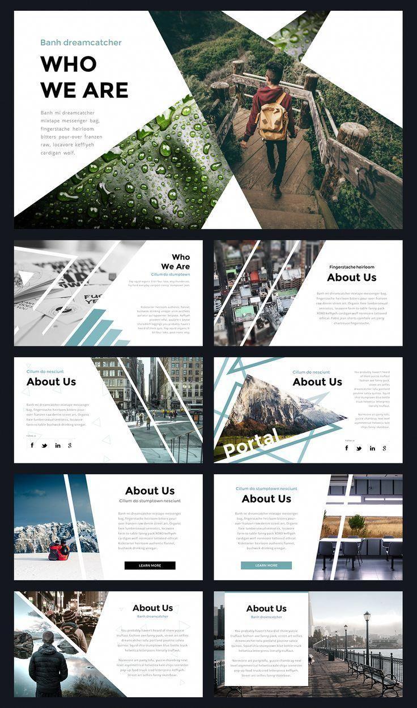 Portal modern powerpoint template by thrivisualy on creativemarket websitedesign design templates also rh pinterest