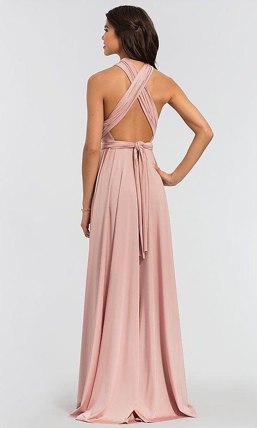 085fad0c87 Image of long Kleinfeld bridesmaid convertible-bodice dress. Style   KL-200022 Back Image