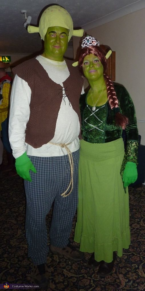Shrek and Princess Fiona Costume - 2013 Halloween Costume Contest via @costumeworks & Shrek and Princess Fiona - Halloween Costume Contest at Costume ...