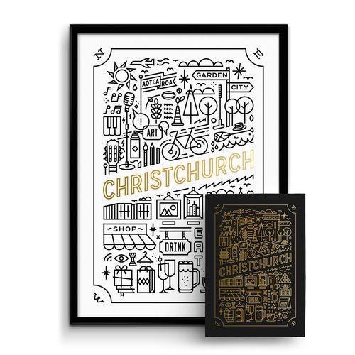THOMPSONCo. Design & Branding Studio — 'Garden City' Gold Foil Print Bundle