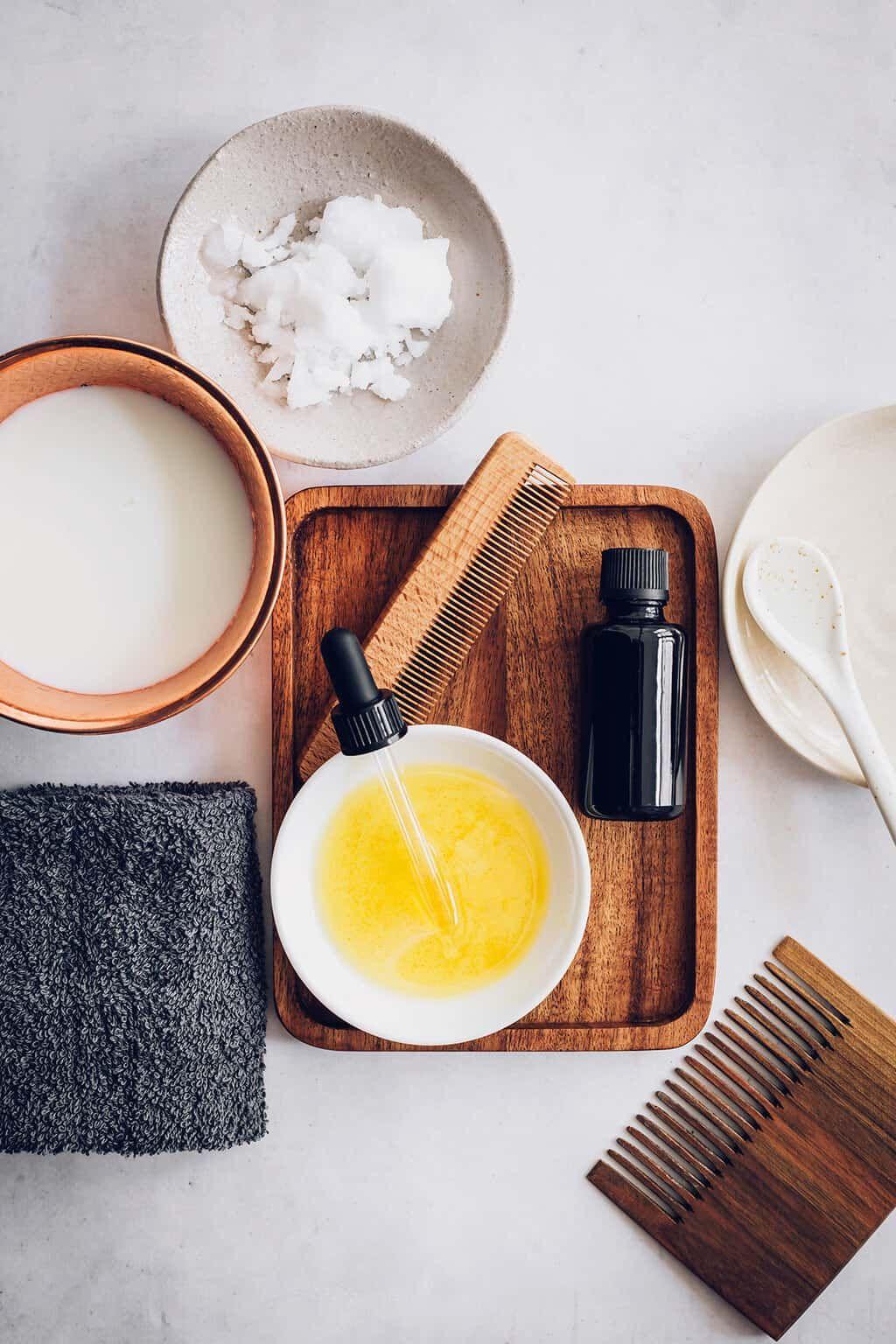DIY Leavein Coconut Milk Conditioner Spray Coconut milk