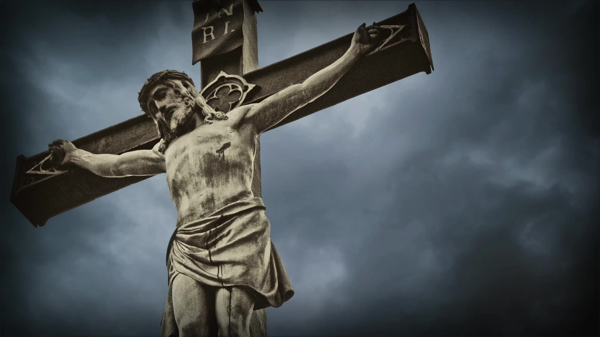stock-footage-crucifixion-christian-cross-with-jesus ...