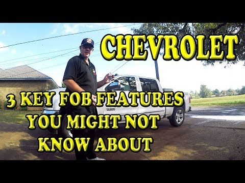 Chevorlet Silverado Three Key Fob Features You May Not Know About