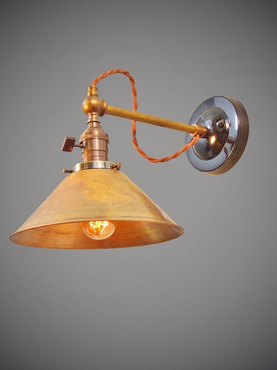 Vintage Industrial Wall Sconce Machine Age Cage Lamp Light Opal Shade