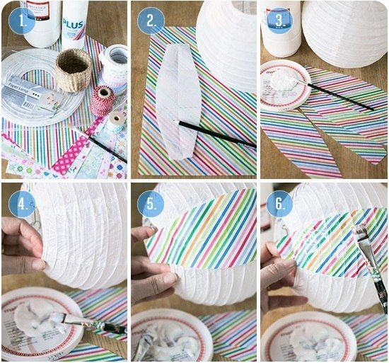 How to make an air ballon out of lampshade