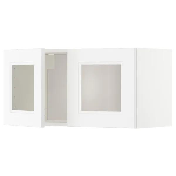 Metod Element Mural 2 Portes Vitrees Blanc Axstad Blanc Mat Ikea Nettoyer Vitres Mobilier De Salon Ikea