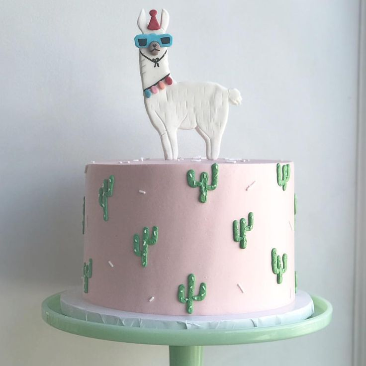 "Bake Shoppe on Instagram: ""Party Llama for the cutest 1yr � . . . #toronto #buttercream #cake #llama #cactus #pink #party"""