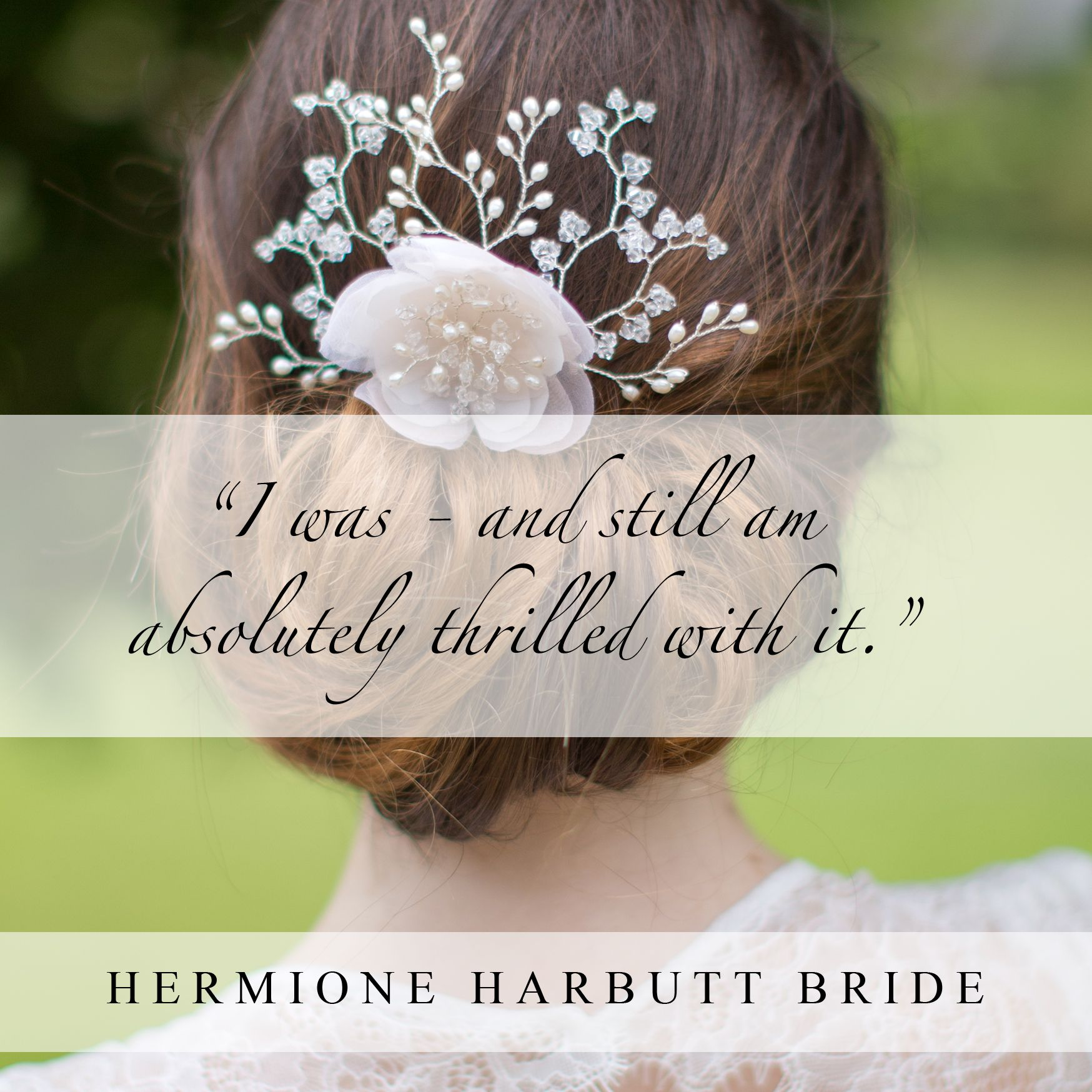 hermione harbutt | quote from a hermione harbutt bride