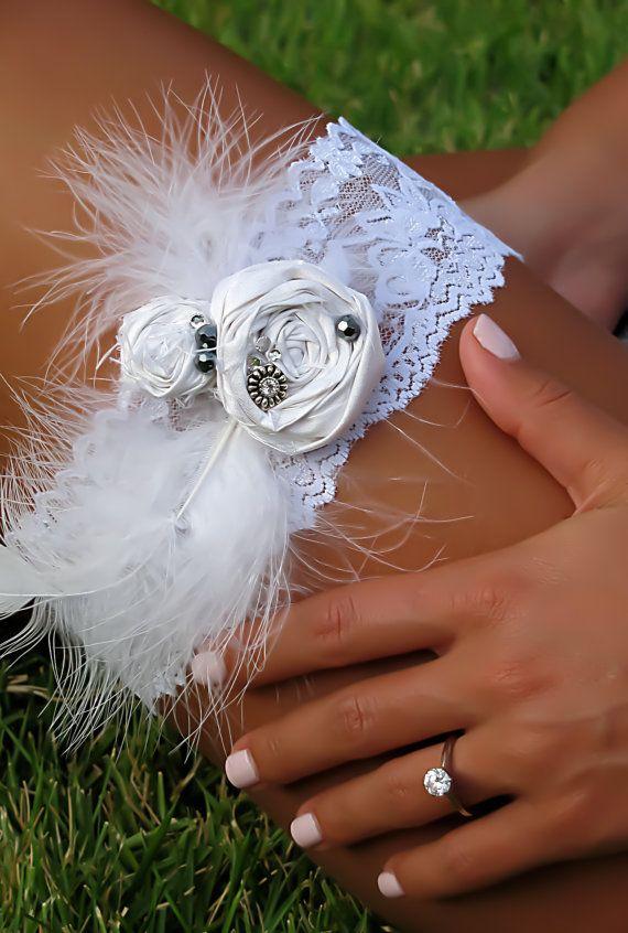 The Juliet Wedding Garter by Saint Townsend, comes in soft ...