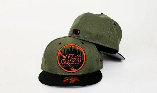 Matching New Era New York Mets Fitted Hat Nike Foamposite SEQUOIA Foams 6718062b11e