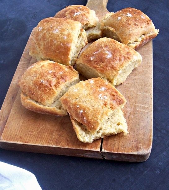 Like dollar rolls, only gluten free. Tender, yet hearty enough for a mini sandwich. And this recipe is easy to mix by hand, so no stand mixer is needed. Do plan ahead though - mix dough the day bef...