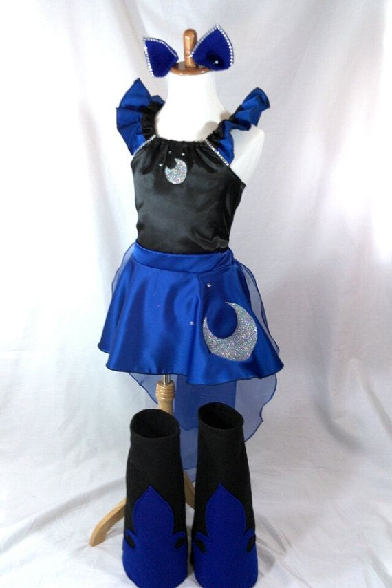 Princess Luna Costume Top Skirt Cape Boots Ears By ...