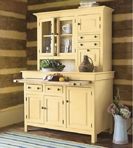 Kitchen Cupboard Old Style Farm Dining Room Storage Antique Furniture Shelving