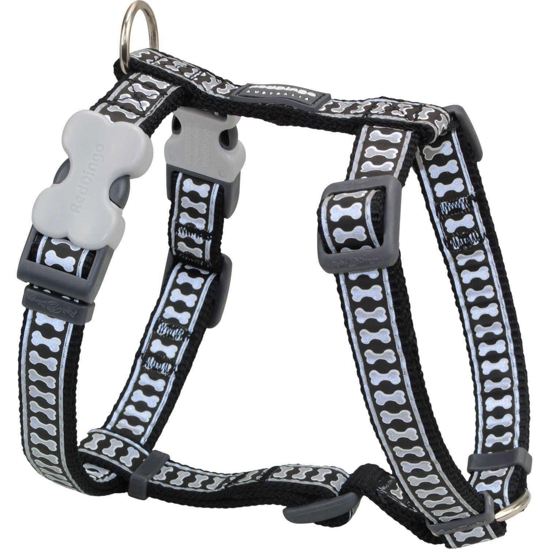 Red Dingo Reflective Safety Dog Harness Medium Black