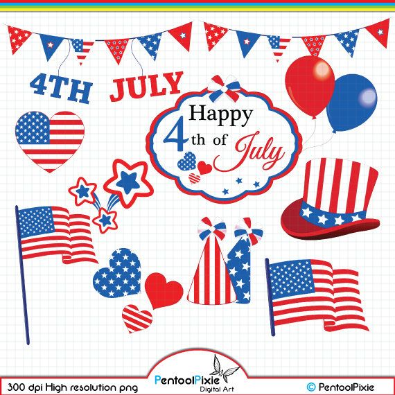 44a79c549 Fourth of July clipart
