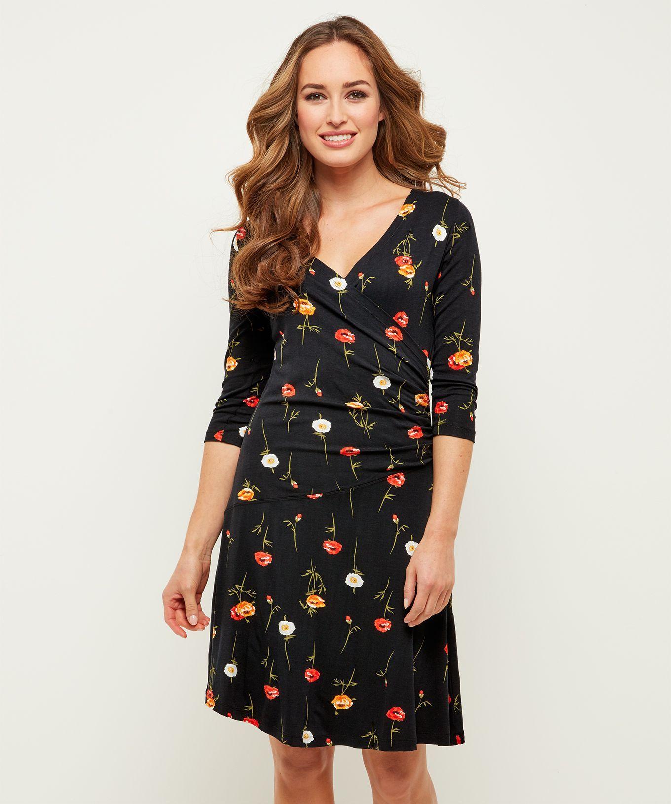 fbea8913aa Moonlit Petal Dress Another super flattering dress for the autumn season.  This vivid poppy print