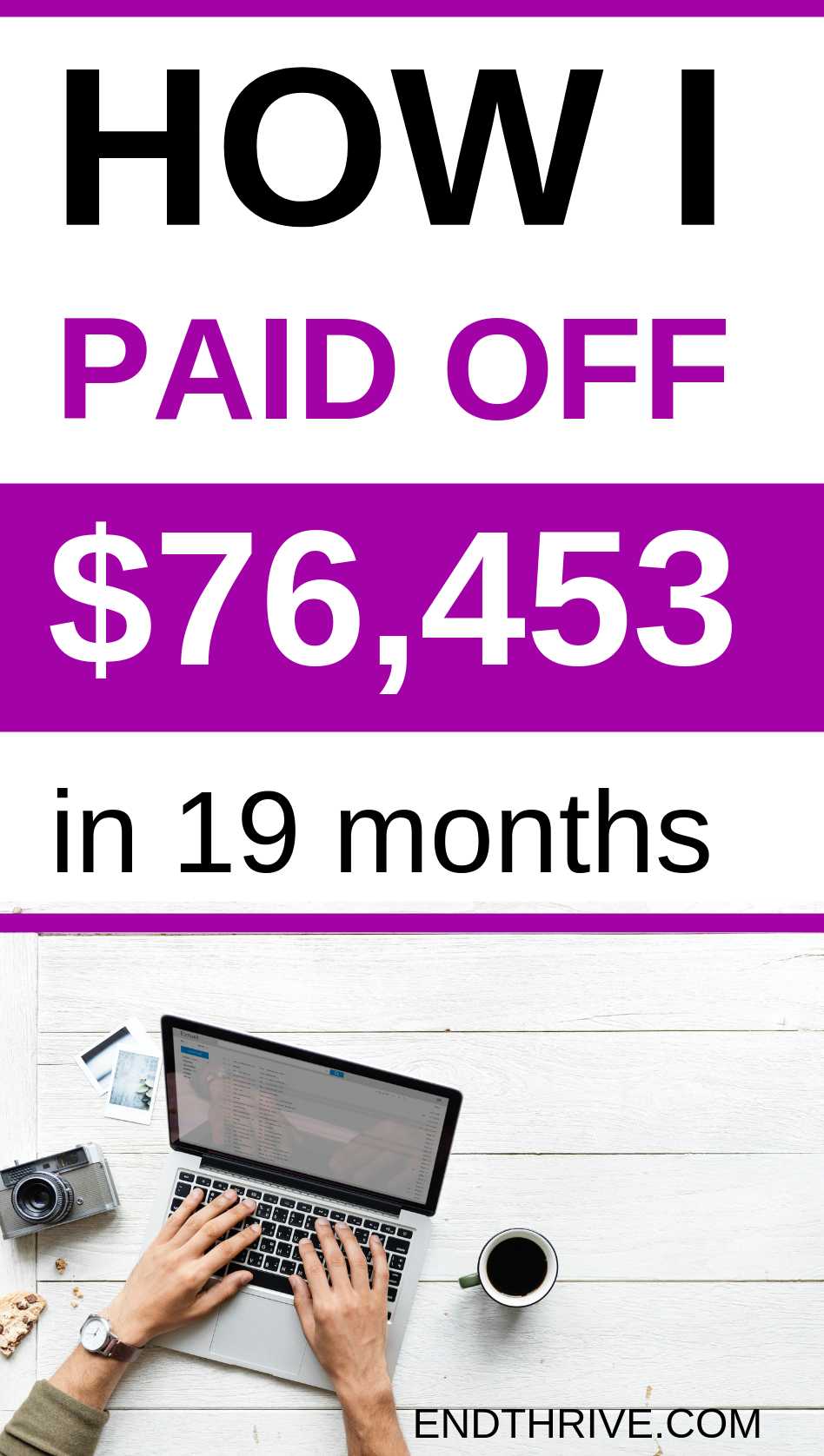 How I Paid Off $76,000 in 19 Months - Debt Payoff & Debt Free Living Are you looking for debt free living stories? Or do you just need some tips for getting rid of debt fast? Credit card debt is not fun, but you can become debt free. Here's my debt payoff story. Debt payoff, debt snowball, credit card debt payoff.
