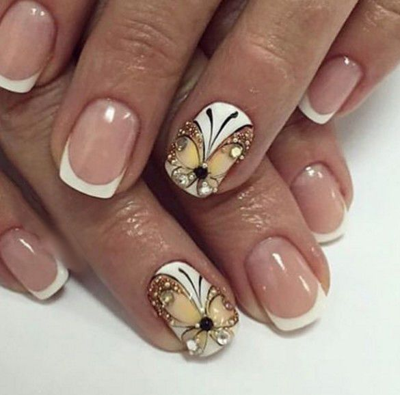Pin by Patricia Richardson on Butterfly Nail Design & Butterfly ...