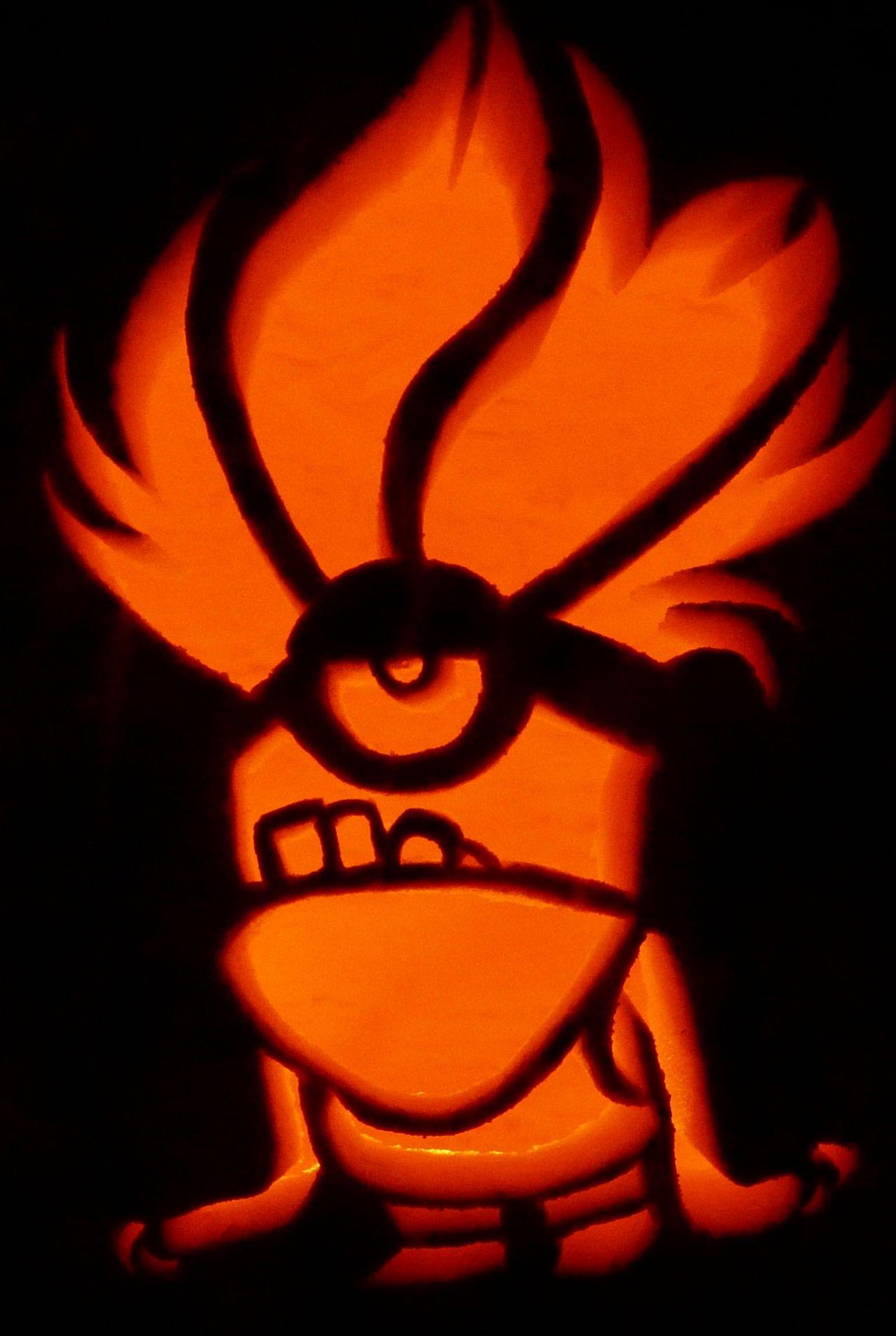 carved pumpkin purple minion for despicable me 2 pumpkin carvings rh pinterest com despicable me agnes pumpkin stencil despicable me agnes pumpkin stencil