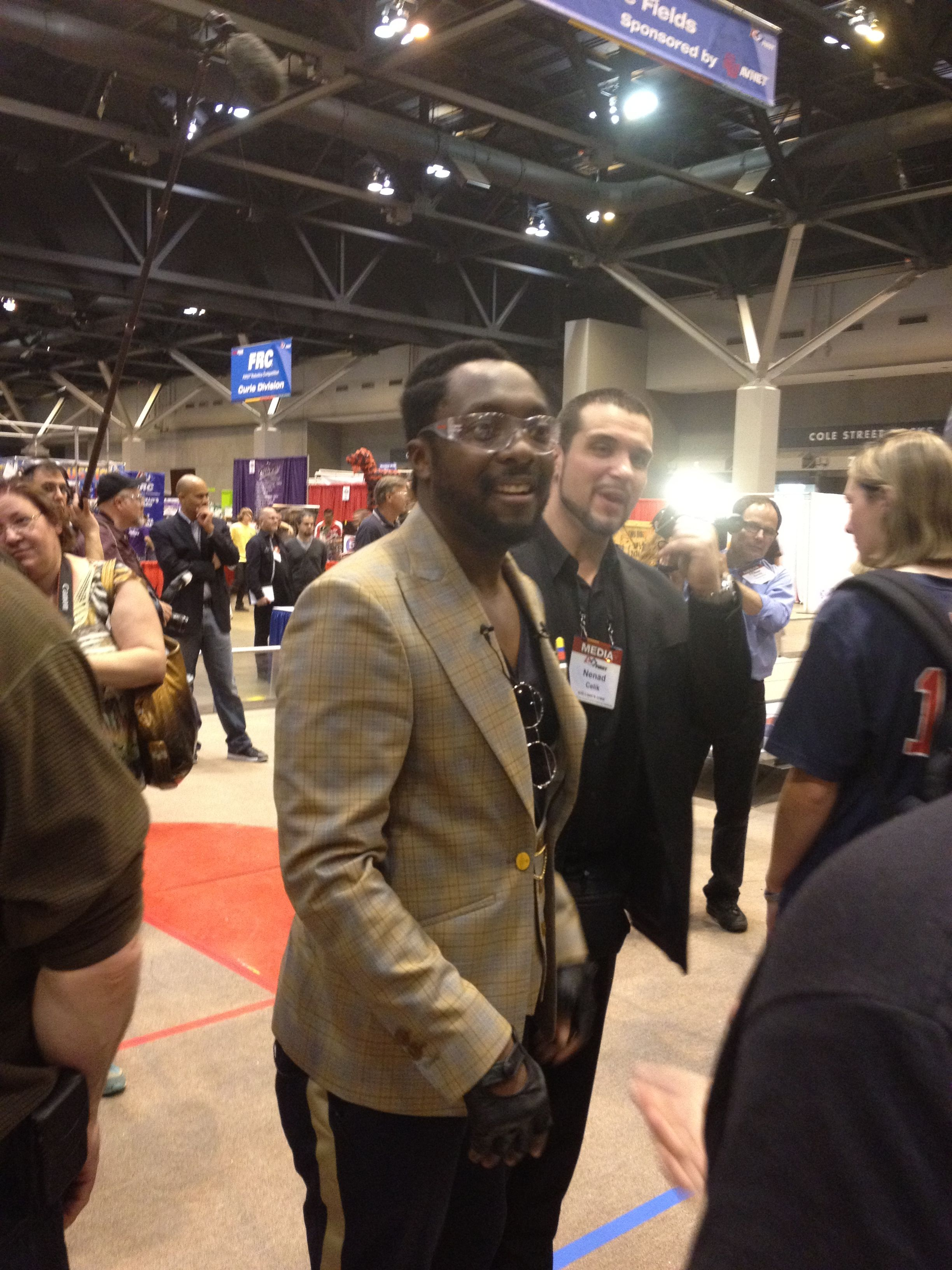 Pretty darn cool to be close enough to reach out and touch Will. I. Am!! St Louis Championships 2012.