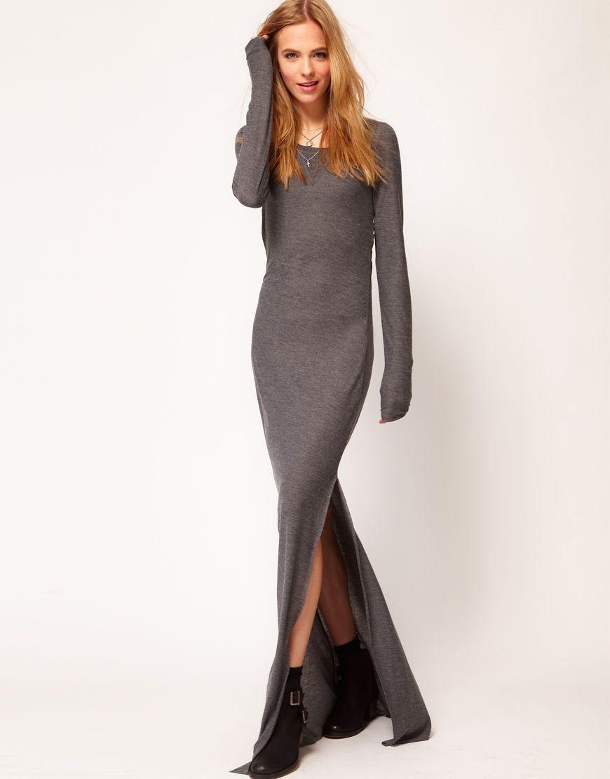 49111779f95 Selected Juliana Long Sleeve Jersey Maxi Dress.
