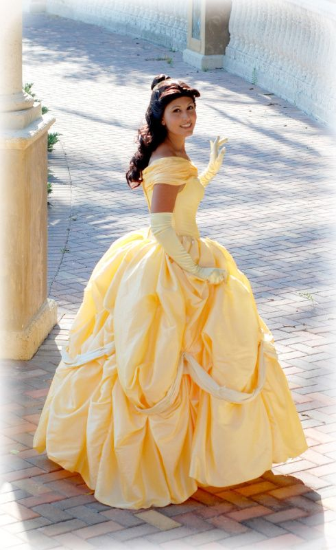 Custom Adult Princess Belle Ball Gown Beauty And The Beast Dress
