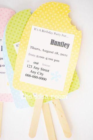 Birthday Party Invitation Idea Summer