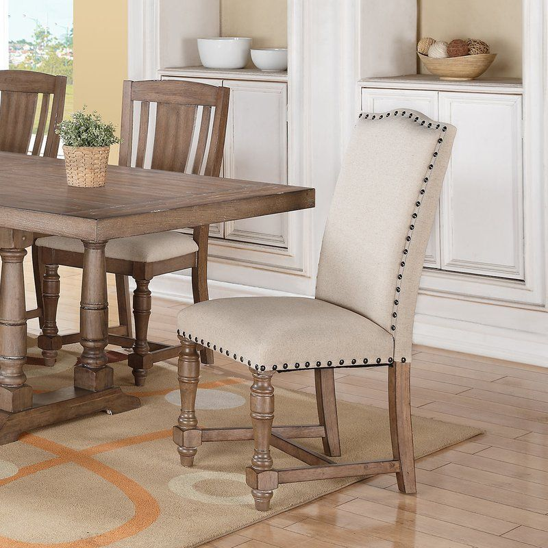 21++ Farmhouse upholstered dining chairs model