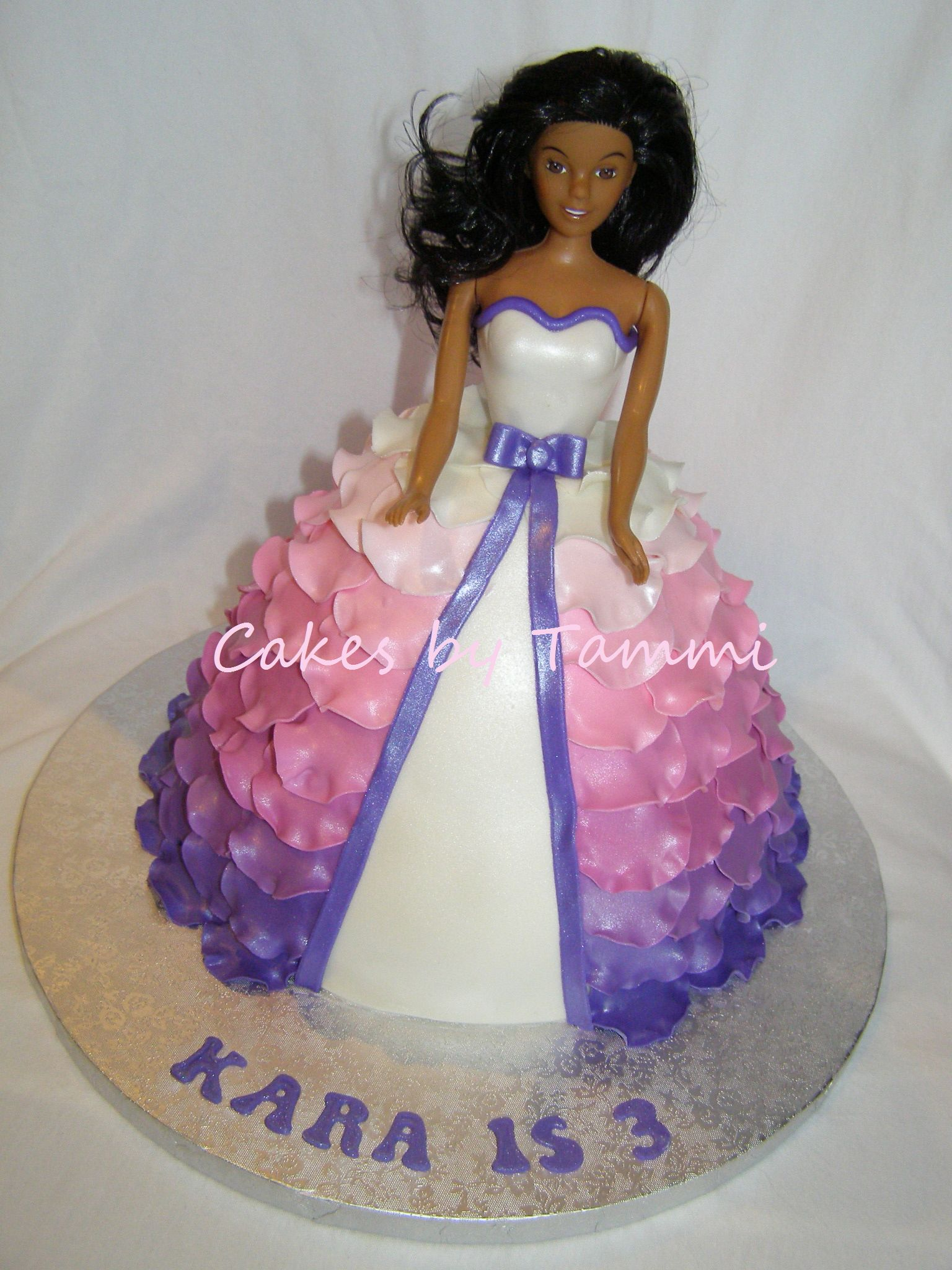 Pink Amp Purple Ombre Ruffled Barbie