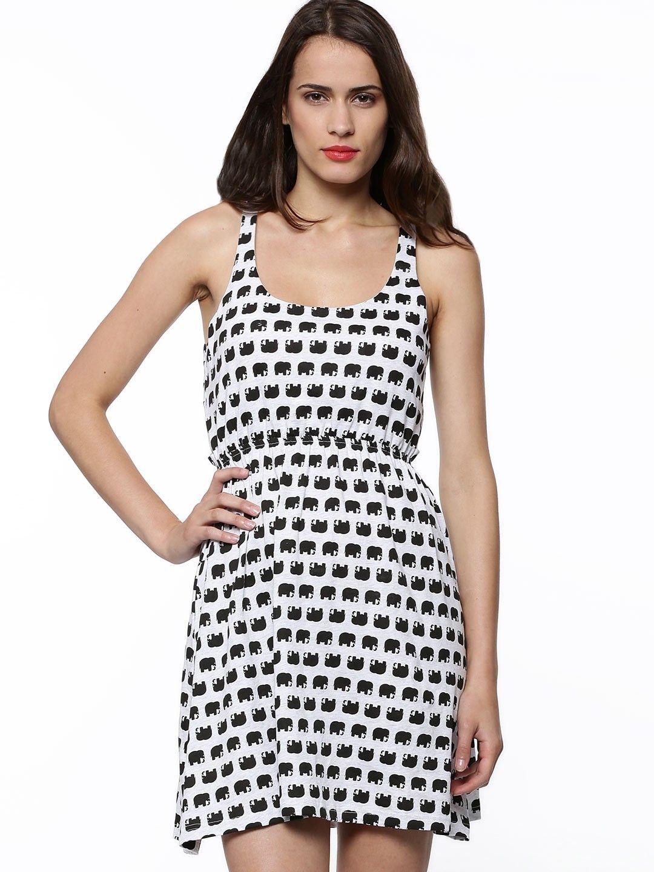 2c2f7969 SPRING BREAK Cut-Out Dress In Elephant Print - Buy Women's Skater Dresses  online in