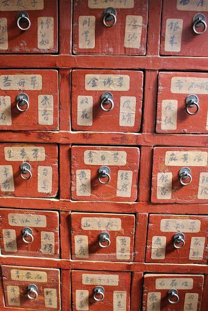 中藥行裡 放中藥的藥櫃 Antique Chinese Herb Cabinet