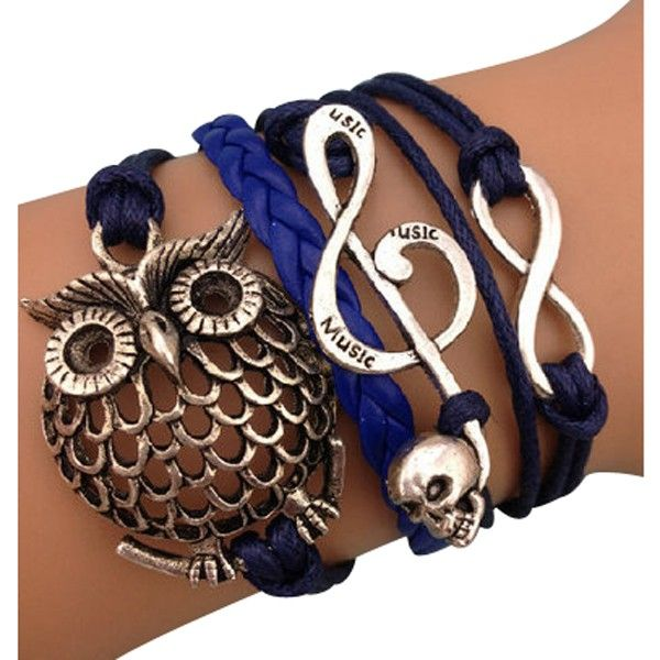 How's this for an arm party??? Owls Love Music Arm Party Wrap Bracelet