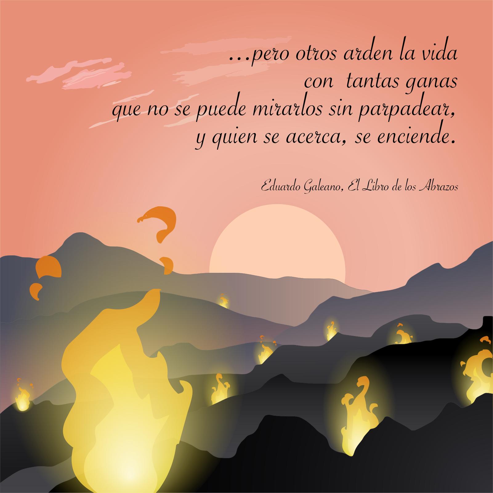 La Vida Humana Un Mar De Fueguitos Eduardogaleano Galeano Frases Artistas De Flores Frases Y Poemas