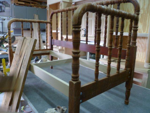 Vintage Spool Bed Bench - Miss Flibbertigibbet