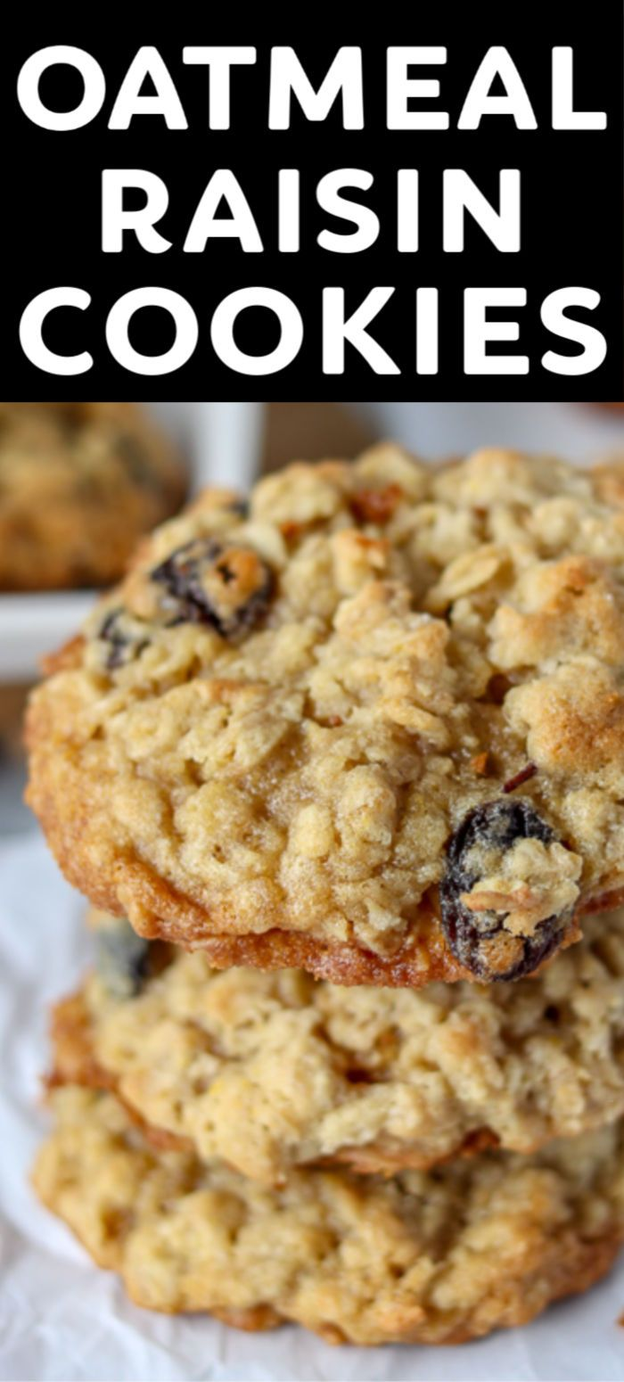 Best Oatmeal Raisin Cookies » Persnickety Plates