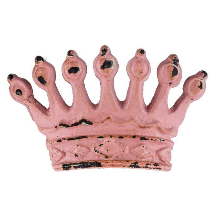 Pink or White Metal Crown Knob