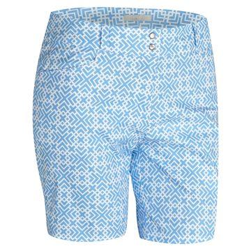Tener cuidado de amplia selección de colores y diseños nuevo concepto White/Bahia Light Blue Adidas Ladies Printed Golf Shorts at ...