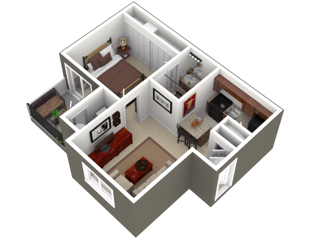 Floor plans for an in law apartment addition on your home for Studio apartment design 3d